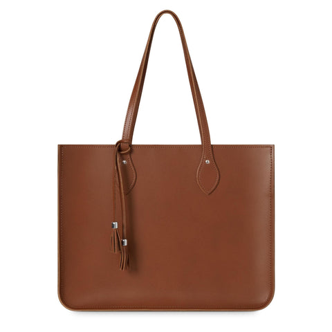 Tassel Tote in Leather - Vintage