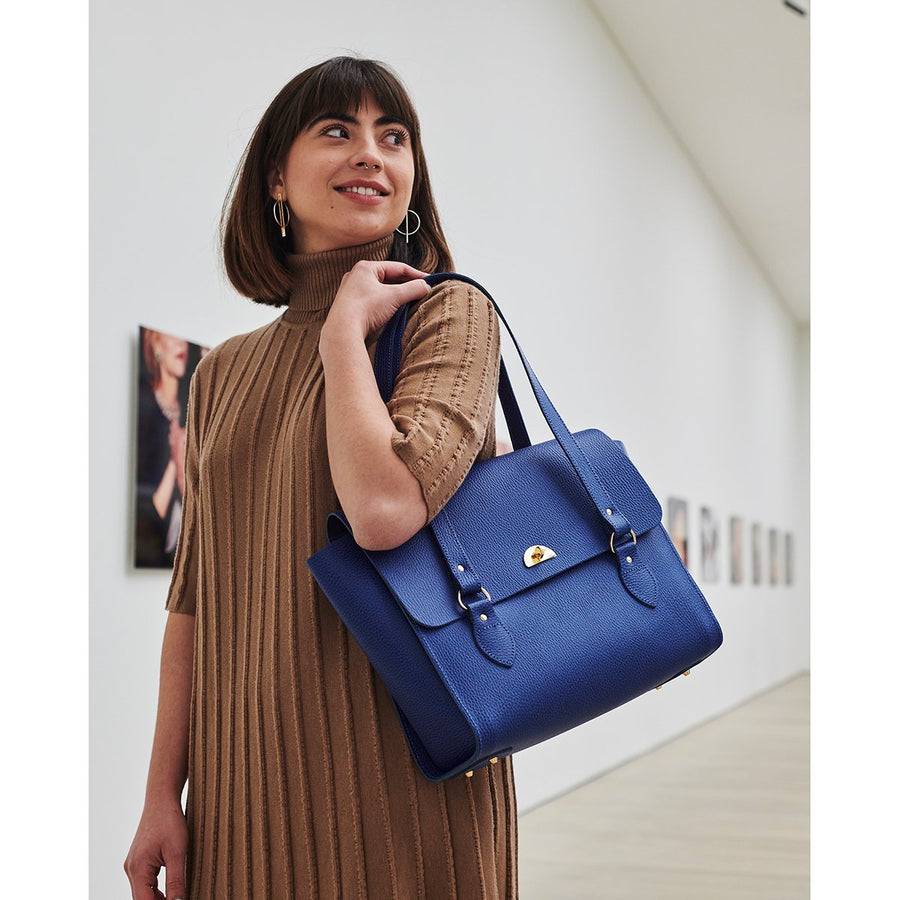 The Emily Tote - Italian Blue Celtic Grain | Cambridge Satchel