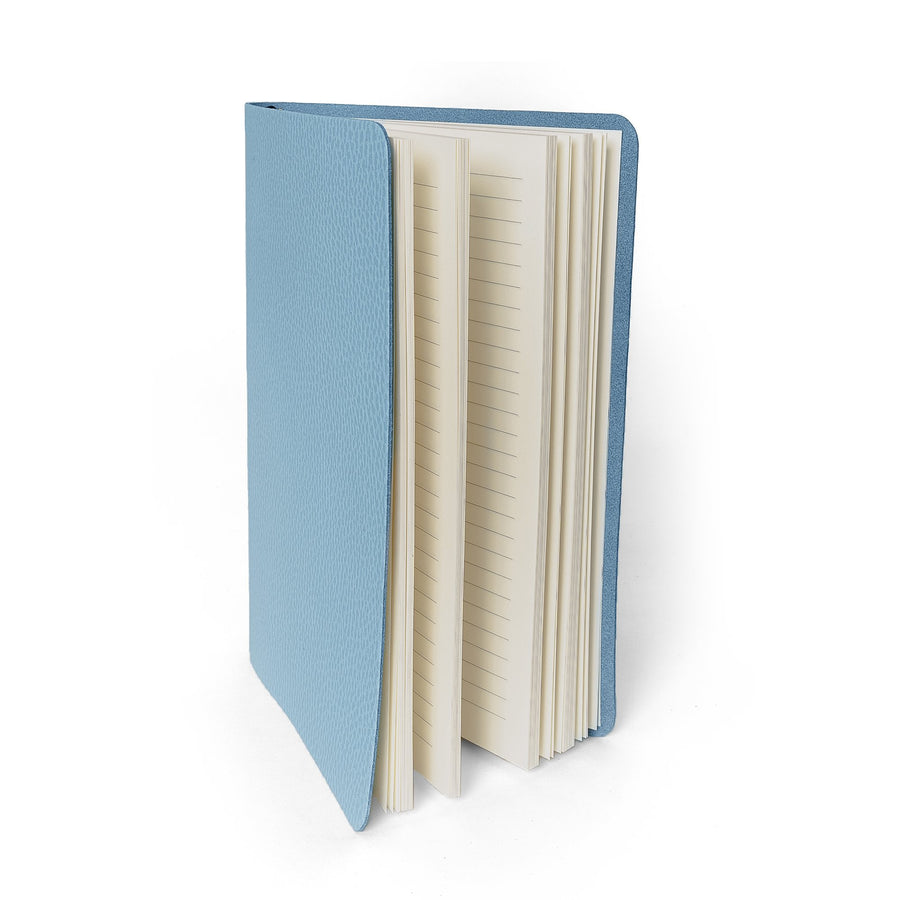 A5 Notebook in Leather - Delphinium Matte Celtic Grain