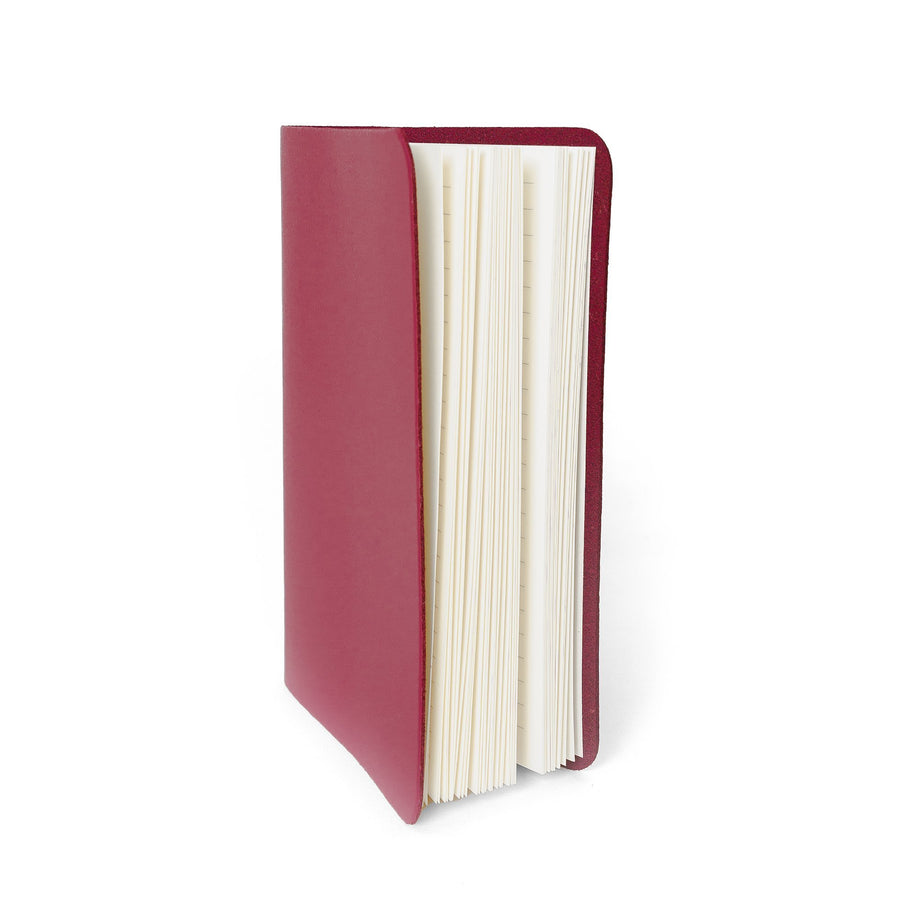 A6 Notebook in Leather - Peony Blush