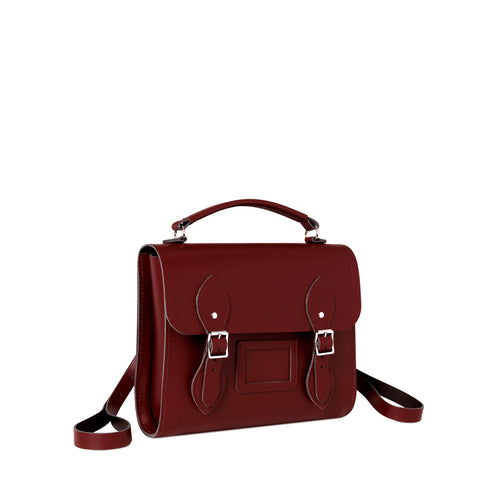 Barrel Backpack in Leather - Oxblood