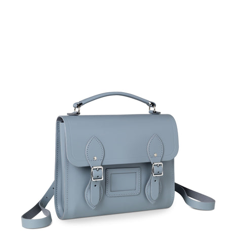 Barrel Backpack in Leather - French Grey