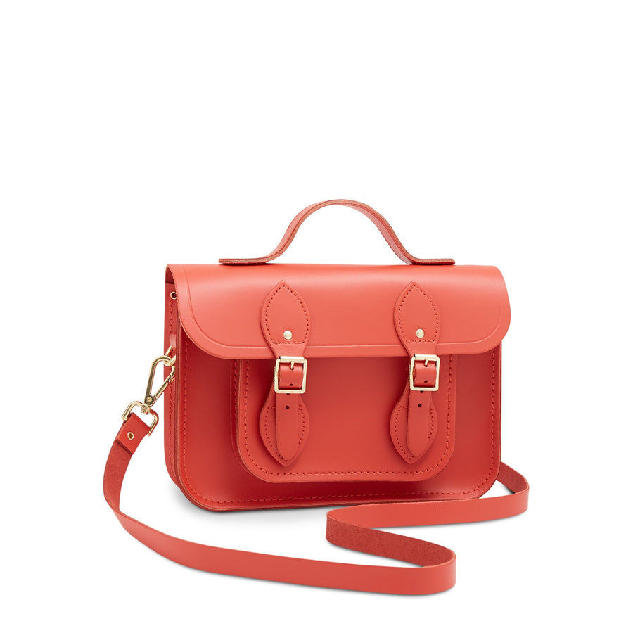 11 Inch Magnetic Batchel in Leather - Spice | Unisex Leather Satchel