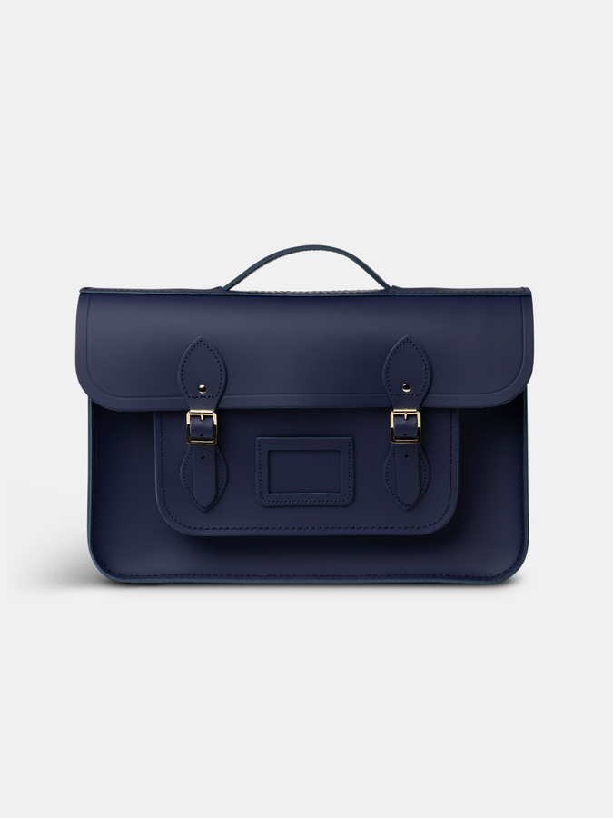 15 Inch Classic Batchel in Leather - Midnight Picnic Matte
