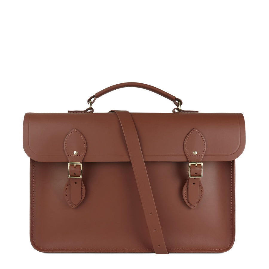 Large Briefcase in Leather - Bay | Cambridge Satchel