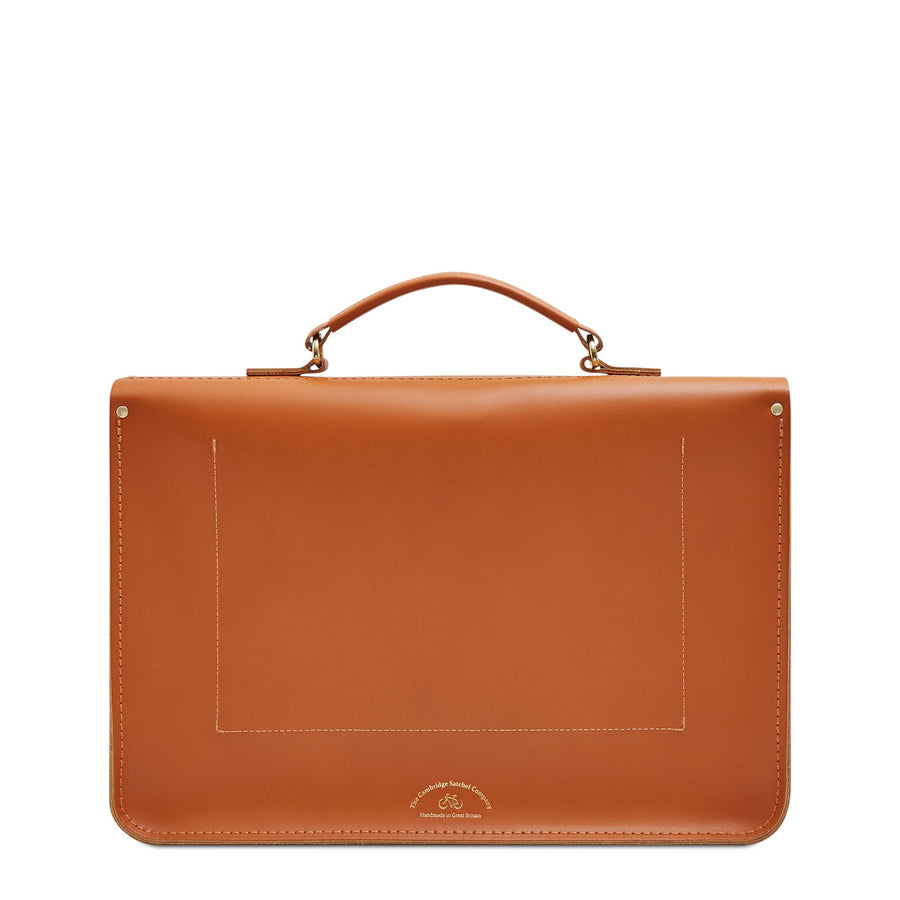 Large Briefcase in Leather - Caramello | Unisex Work Bag