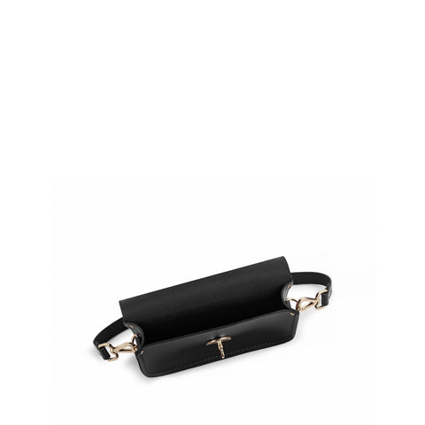 Small Cloud Bag in Leather - Black