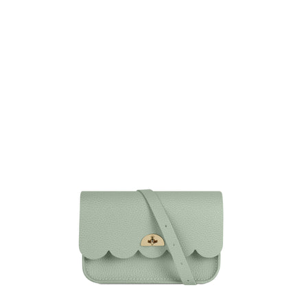 Small Cloud Bag in Leather - Oasis Green Celtic Grain | Cambridge Satchel