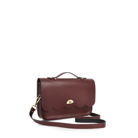 Cloud Bag with Handle in Leather - Oxblood