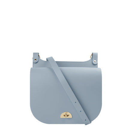 Conductors Bag in Leather - French Grey