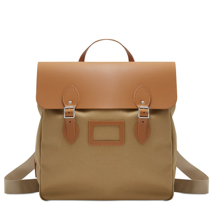 Canvas Steamer Backpack - Ochre & Tan Canvas