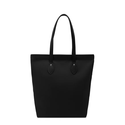 Canvas Tote - Black Canvas & Black Leather Trim | Cambridge Satchel