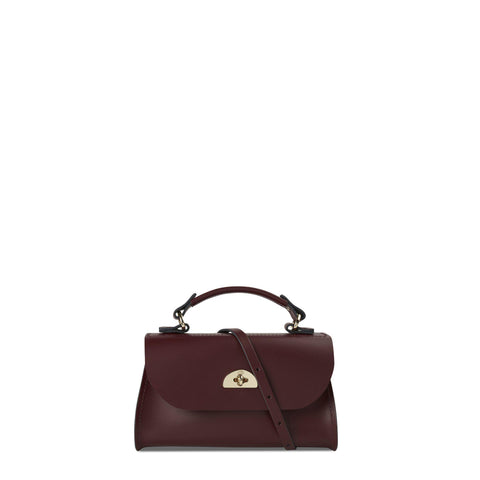 Mini Daisy Bag in Leather - Oxblood