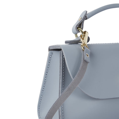 Mini Daisy Bag in Leather - French Grey