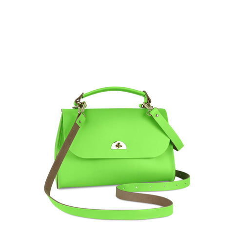 Daisy Bag in Leather - Fluoro Green