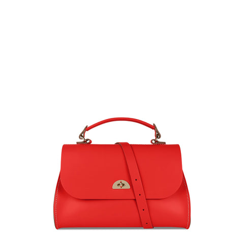 Daisy Bag in Leather - Fluoro Red