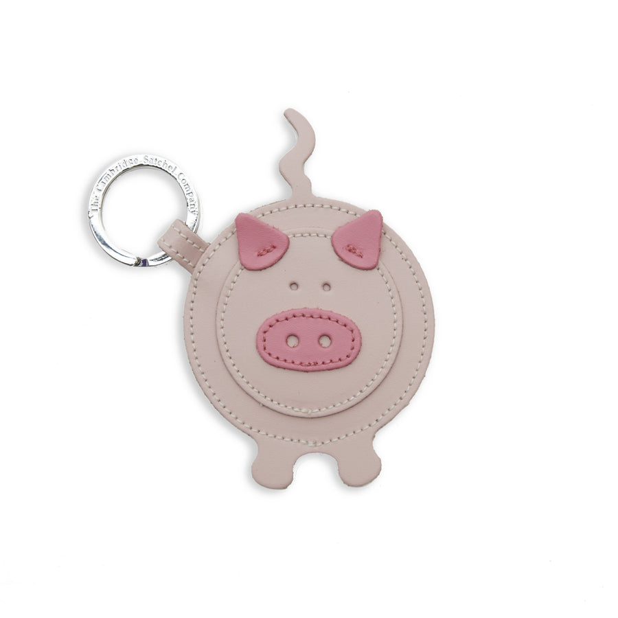 Pam the Pig Charm in Leather - Dusky Rose & Classic Pink