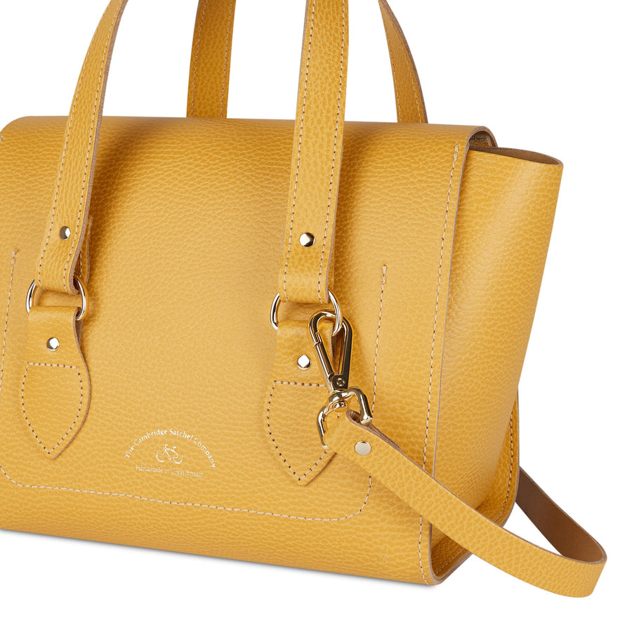 The Small Emily Tote - Indian Yellow Celtic Grain