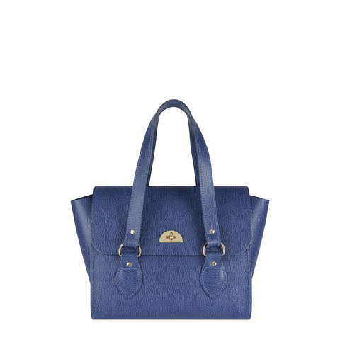 The Small Emily Tote - Italian Blue Celtic Grain