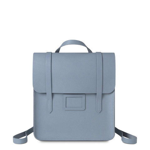Folio Backpack in Saffiano Leather - French Grey