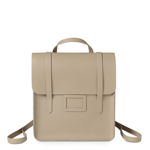 Folio Backpack in Saffiano Leather - Putty