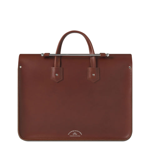 Folio Bag in Leather - Brandy