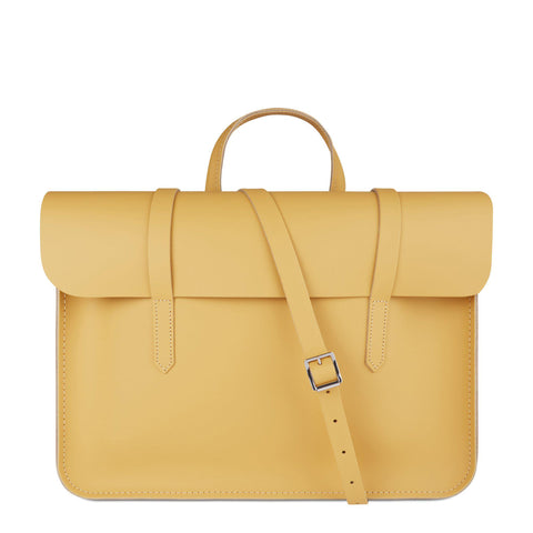 Folio in Leather - Matte Indian Yellow