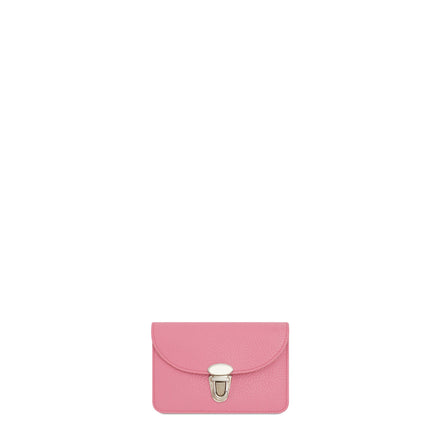 The Cambridge Satchel Company Small Grain Push Lock Purse in Leather - Pink
