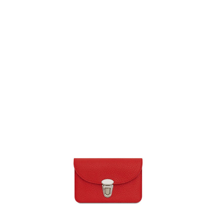 The Cambridge Satchel Company Small Grain Push Lock Purse in Leather - Red