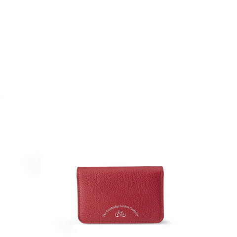 Small Push Lock Purse in Grain Leather - Crimson Grain