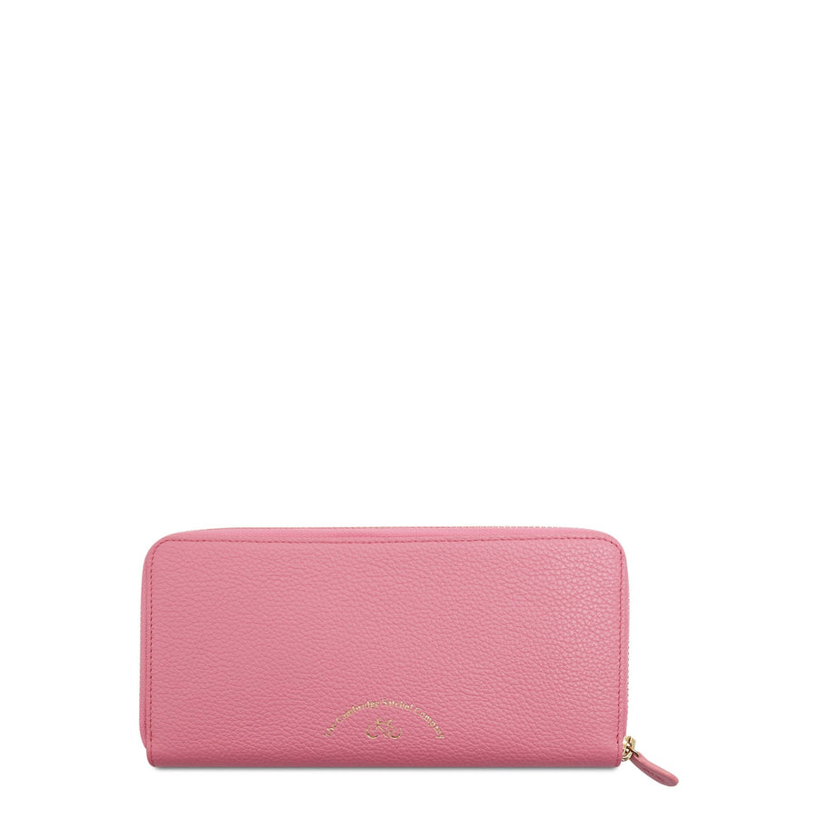 The Cambridge Satchel Company Large Grain Zip Around Purse in Leather - Pink