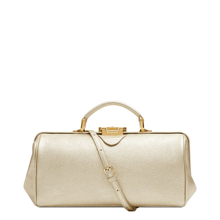 Doctors Bag - Champagne Calf Grain Leather | Cambridge Satchel Company
