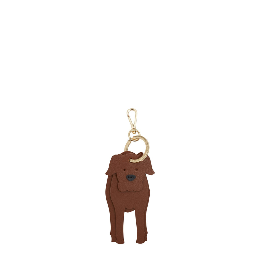 Barnaby the Boxer Dog Charm in Leather - Vintage & Black