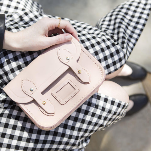 Tiny Satchel in Leather - Sunkissed