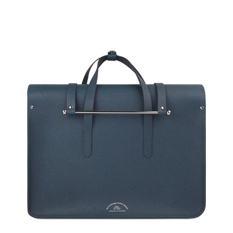 Large Folio in Saffiano Leather - Peacock