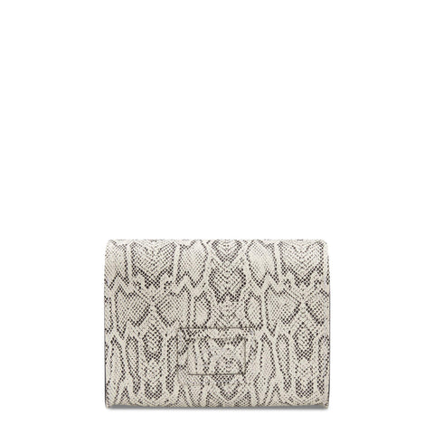 Large Push Lock in Leather - Python Print
