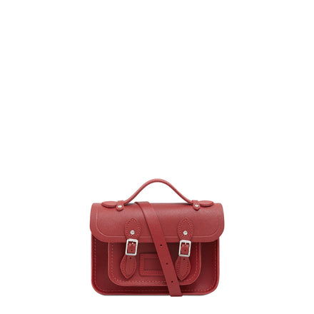 Red Mini Cambridge Satchel Saffiano Leather Cross Body Bag