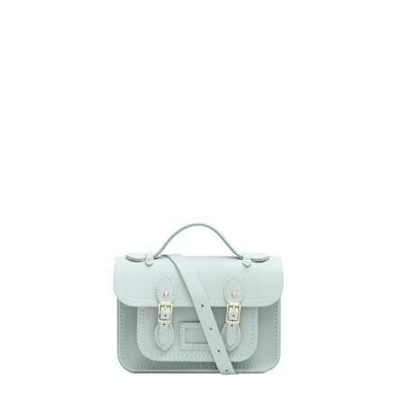 Mini Satchel in Leather - Sea Foam Matte | Women's Handbag & Cross Body Bag