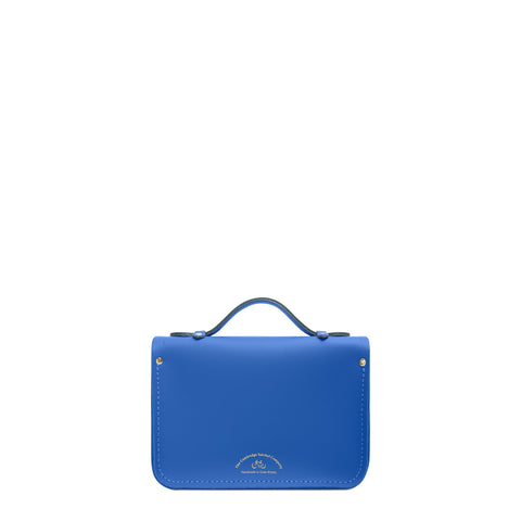 Magnetic Mini Satchel in Leather - Electric Cornflower Matte