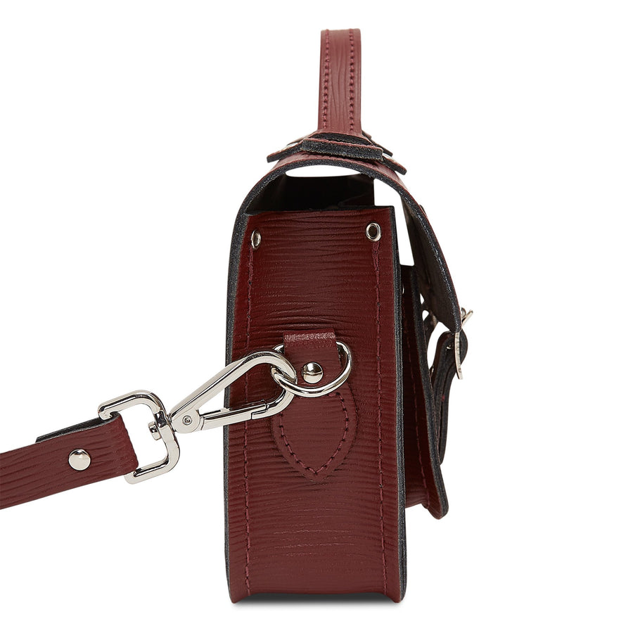 Magnetic Mini Satchel in Leather - Oxblood 1914 Grain | Cambridge Satchel