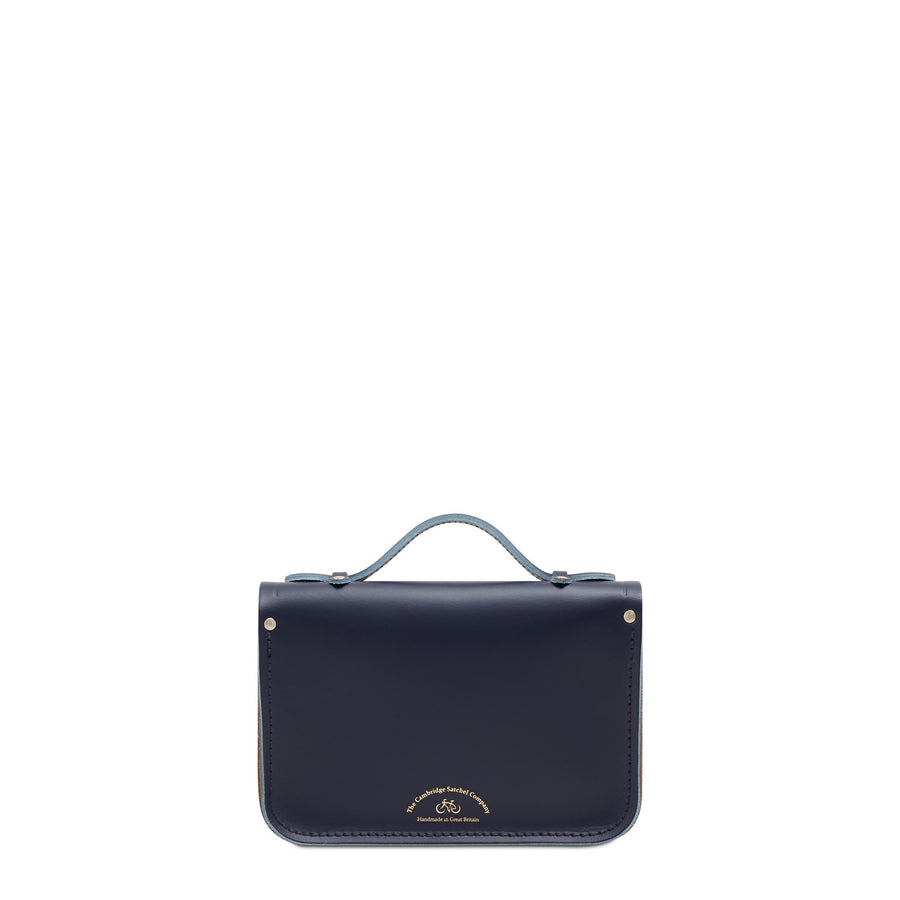 Magnetic Mini Satchel in Leather - Midnight, Putty & Mustard Matte
