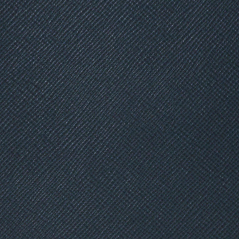 A5 Notebook in Leather - Navy Saffiano