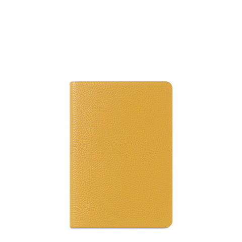 A5 Notebook in Leather - Mustard Grain