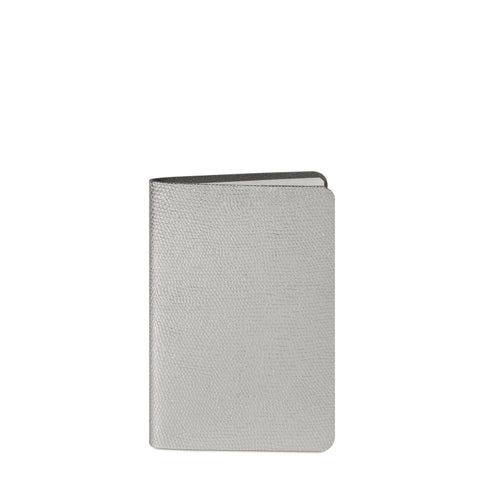 A5 Notebook in Leather - Silver Lizard