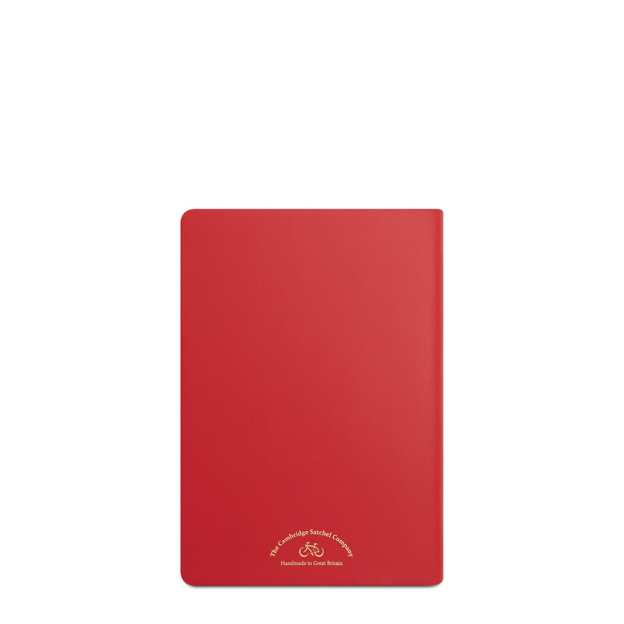 A5 Notebook in Leather - Red Berry