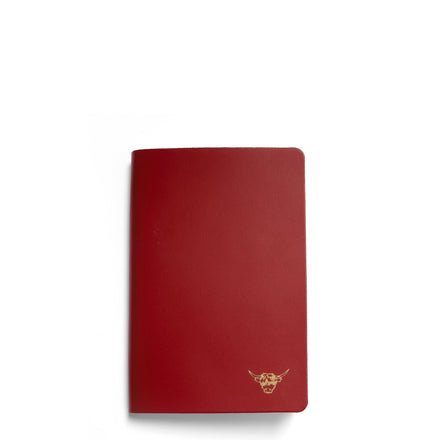 Year of the Ox Exclusive: A5 Notebook in Leather - Pillar Box Red