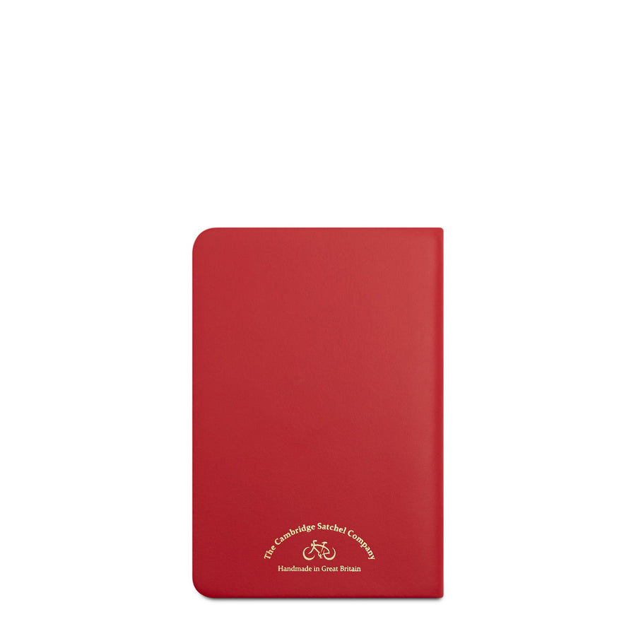 A6 Notebook in Leather - Red Berry