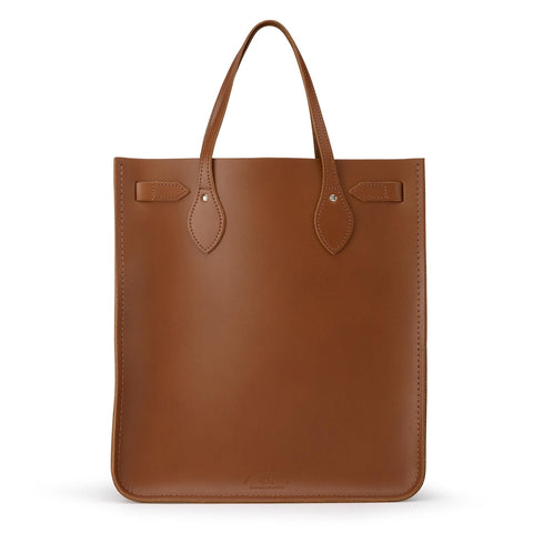 North South Tote in Leather