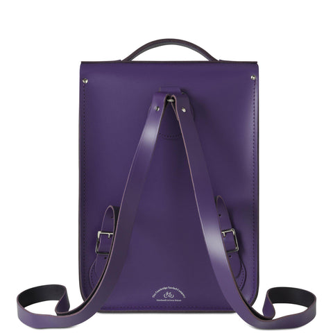 Portrait Backpack in Leather - Purple