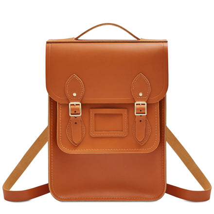Portrait Backpack in Leather - Caramello | Unisex Leather Backpack